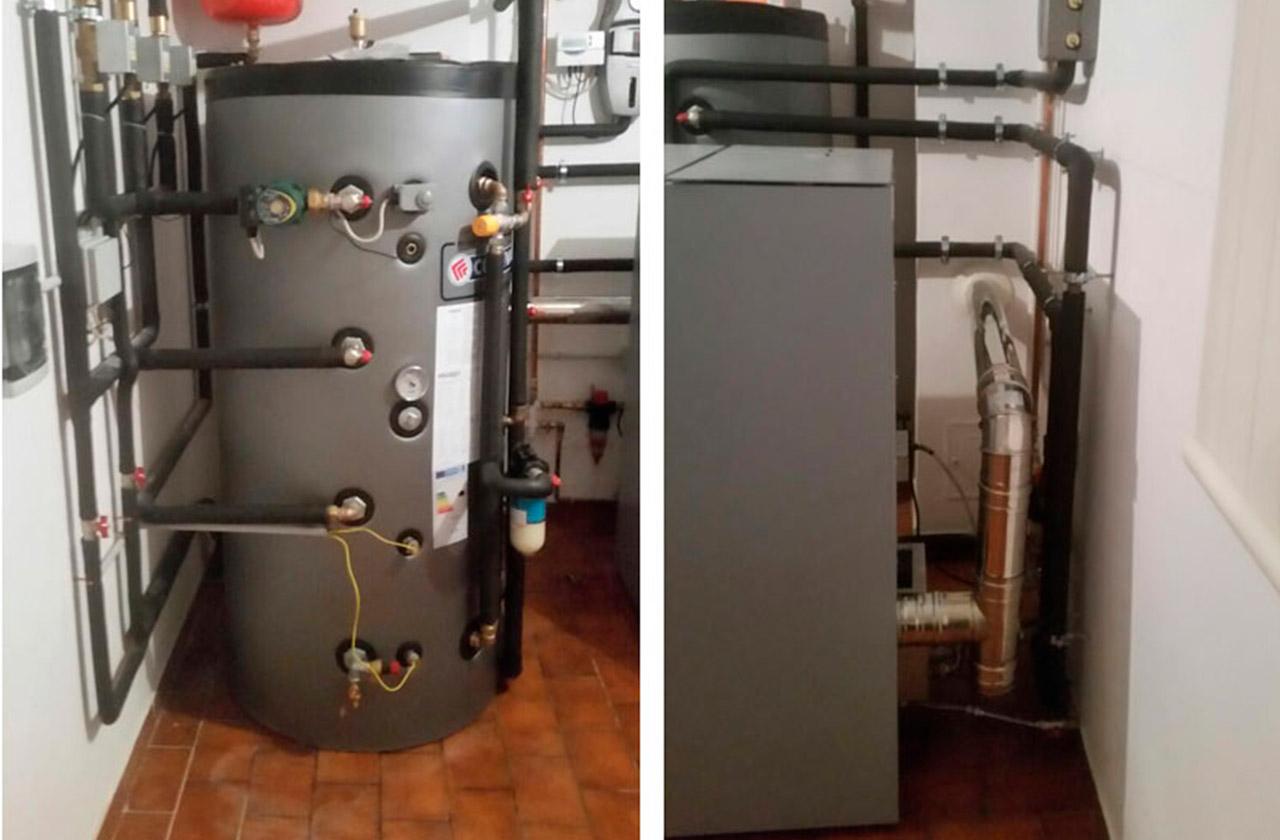 installazione caldaia pellet
